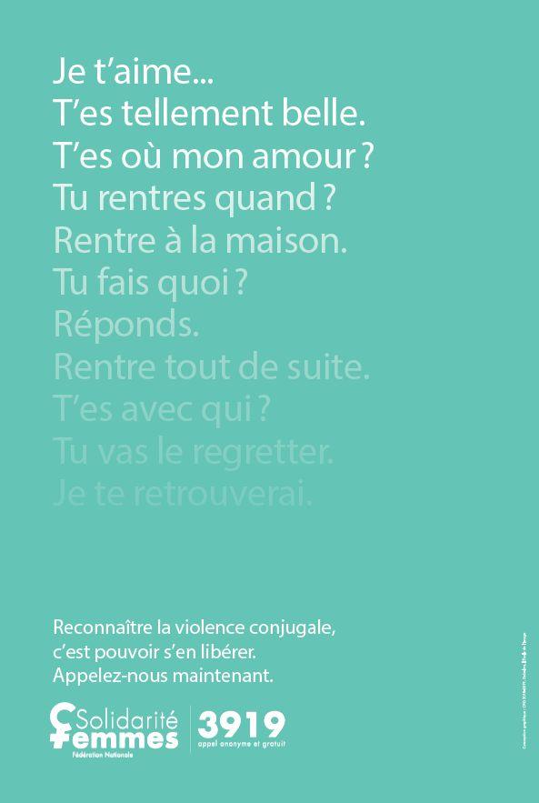 affiche campagne 3919 violences faites aux femmes