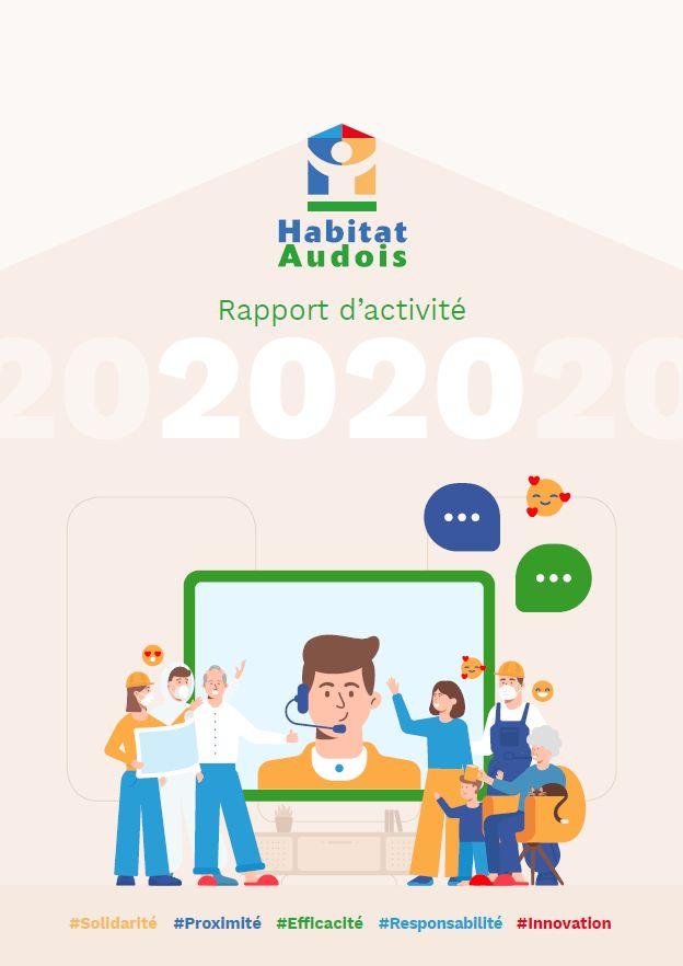 couverture rapport activité 2020 Habitat Audois