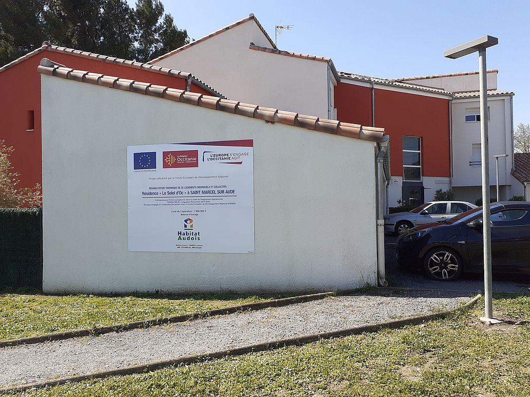 réhabilitation résidence lo solel d'oc habitat audois à saint marcel sur aude