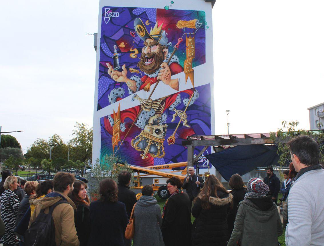 inauguration fresque la conte habitat audois