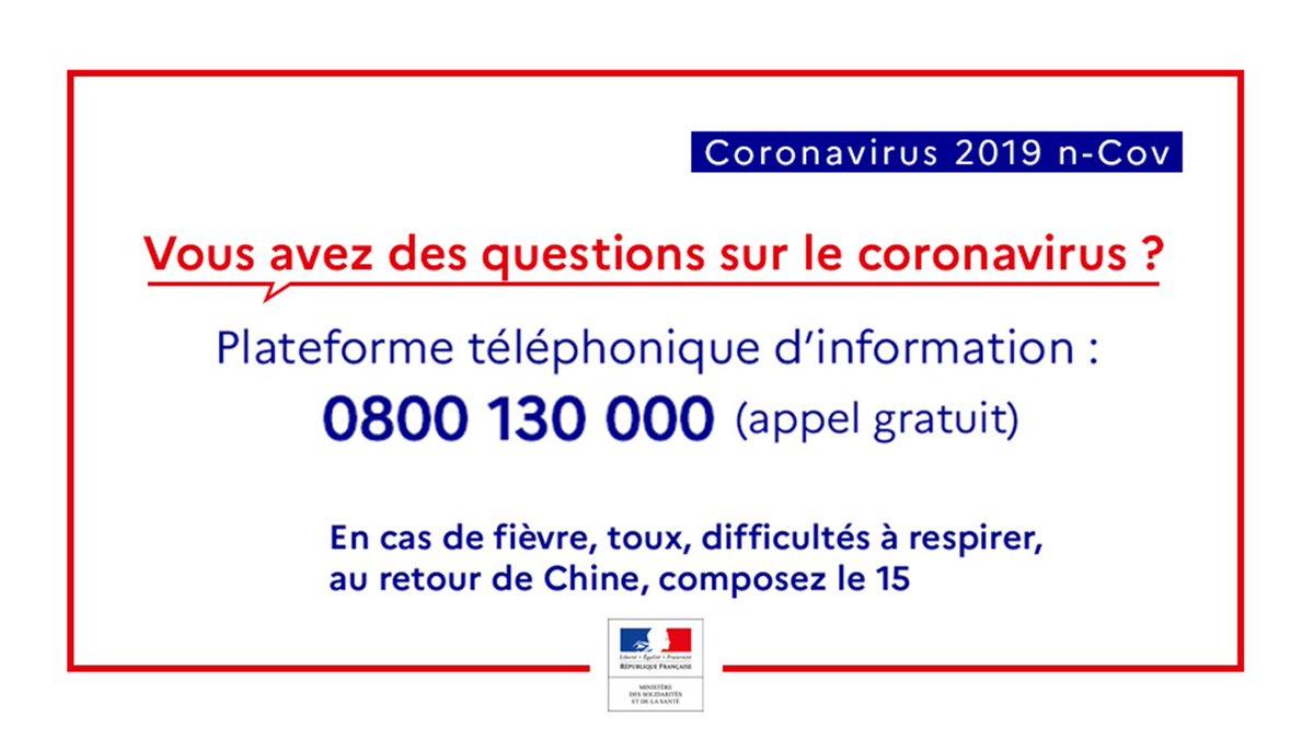 numéro spécial gouvernement coronavirus