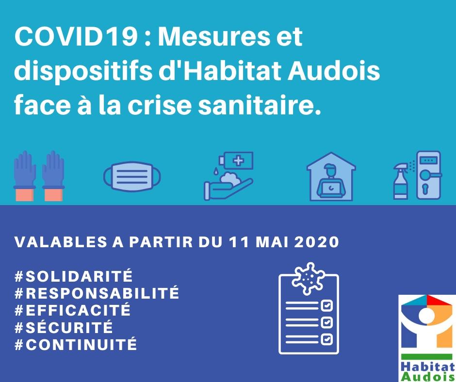 mesures spéciales covid19 Habitat Audois à partir du 11 mai et le déconfinement